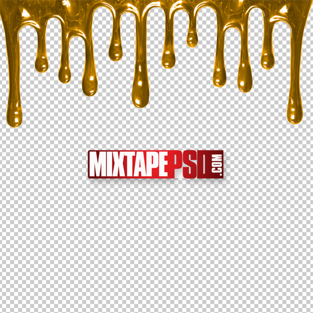Free HD Gold Dripping Cut PNG.