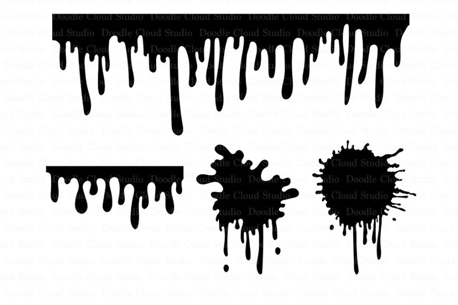 Paint Stains svg Dripping Paint svg.