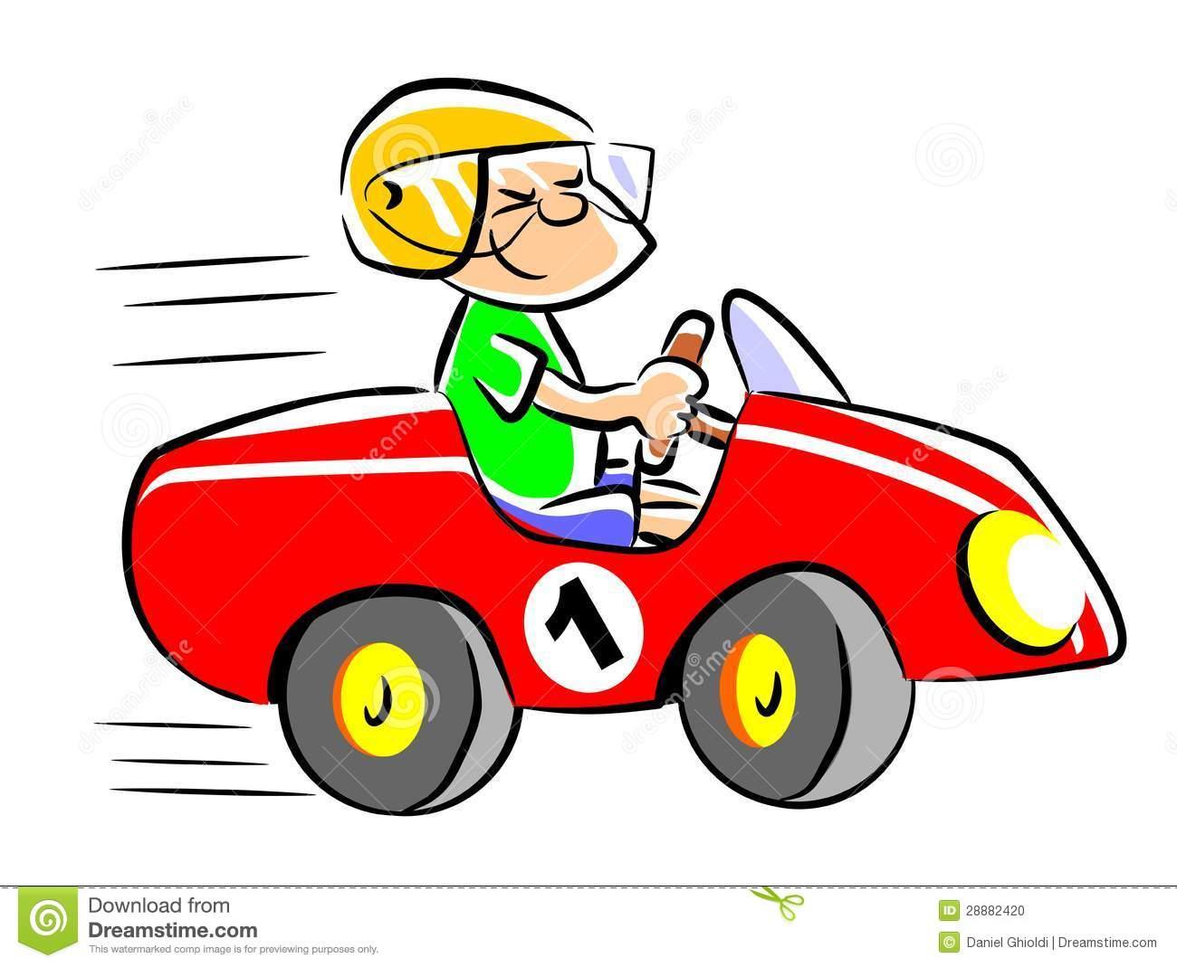 Race Car Driver Clipart.