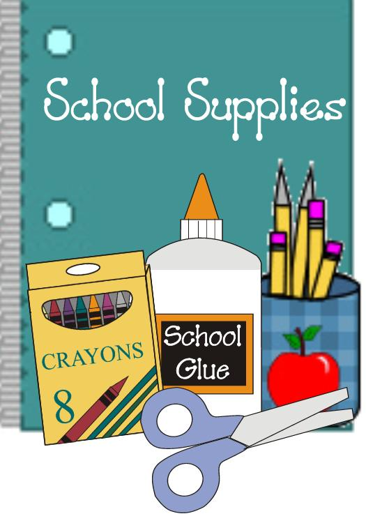 School supply drive clipart.