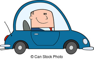 Driving To Work Clipart.