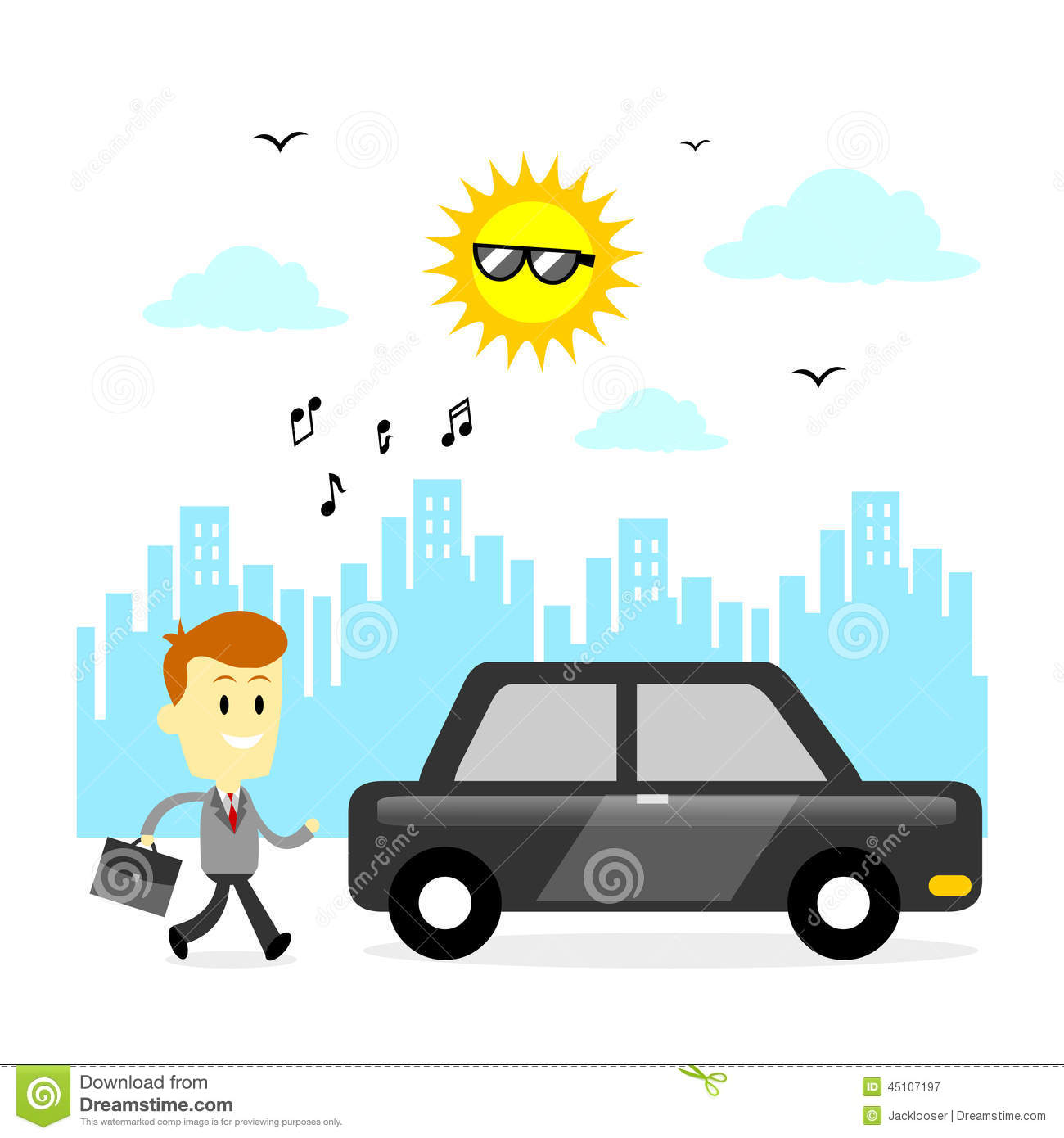 Ready To Go To Office Stock Vector.
