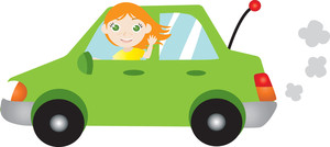Driving Clipart Image.