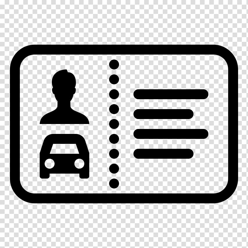 Identification card , Car Computer Icons Driver\\\'s license.