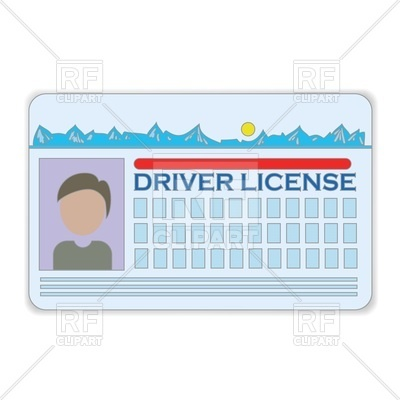 Cartoon style driver license Vector Image #63402.