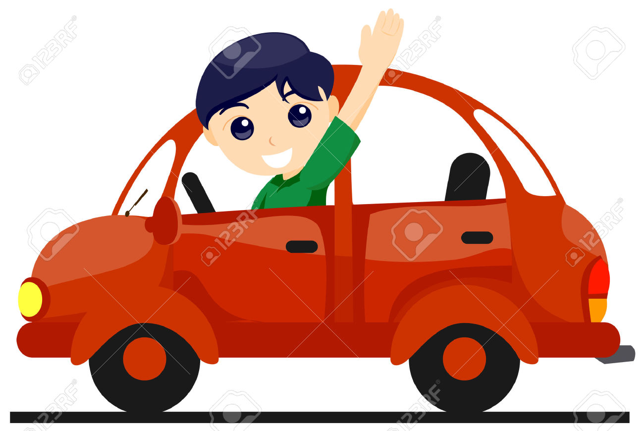Minions drive car clipart.
