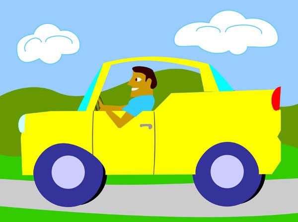 Driving Car Clipart.