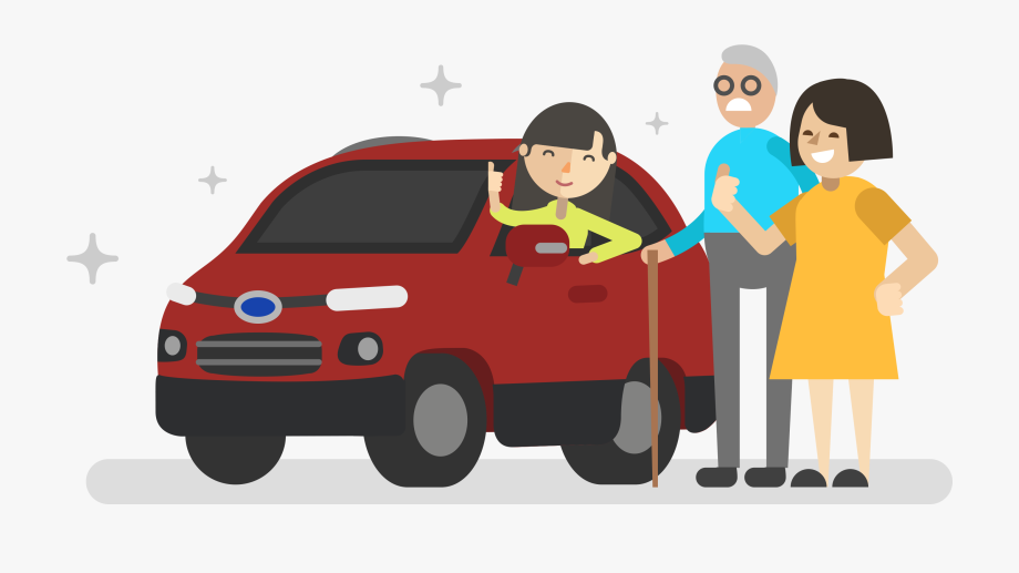 Driving Clipart Family.