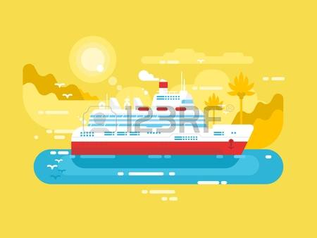 0 Cruise Liner Ship Stock Vector Illustration And Royalty Free.