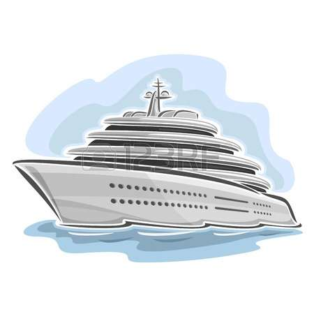 Driving cruise ship clipart #13