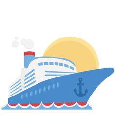 Free Cruise Ship Clip Art Image: clip art illustration of a cruise.