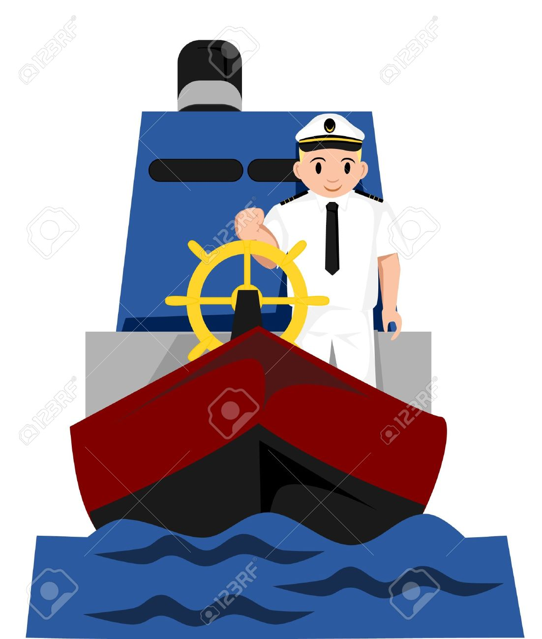 Captain of a ship clipart.