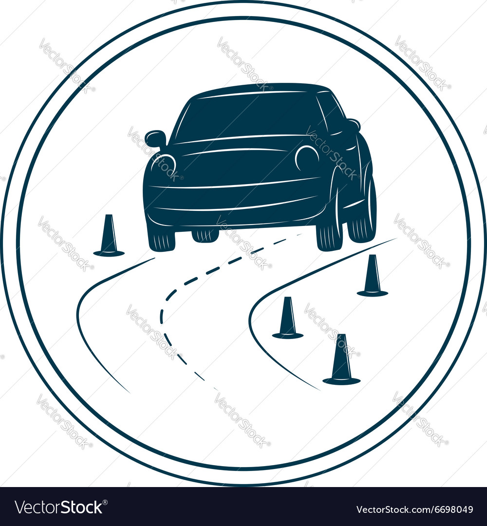 Driving school logo template.