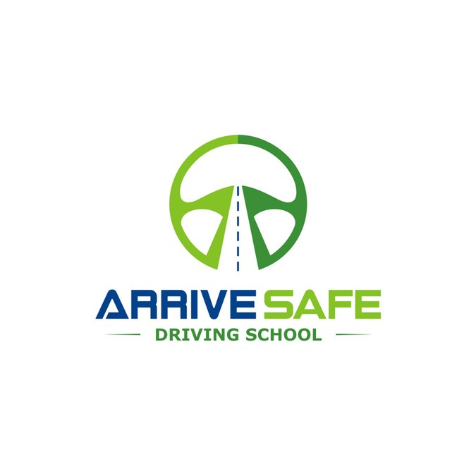Create a eyecatching driving school illustration / logo for.