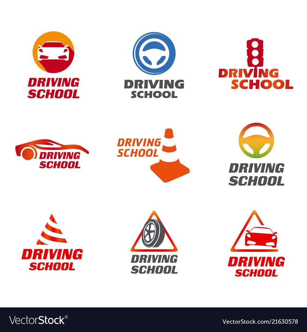 Driving school logo.