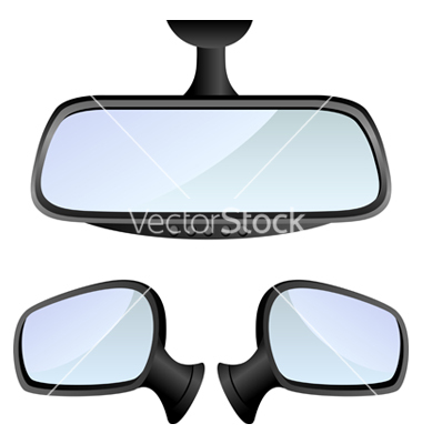 Car mirror set vector by Helioshammer.