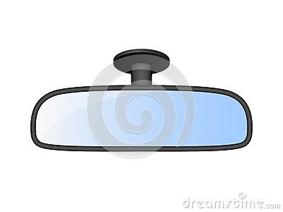 Clipart rear view mirror.