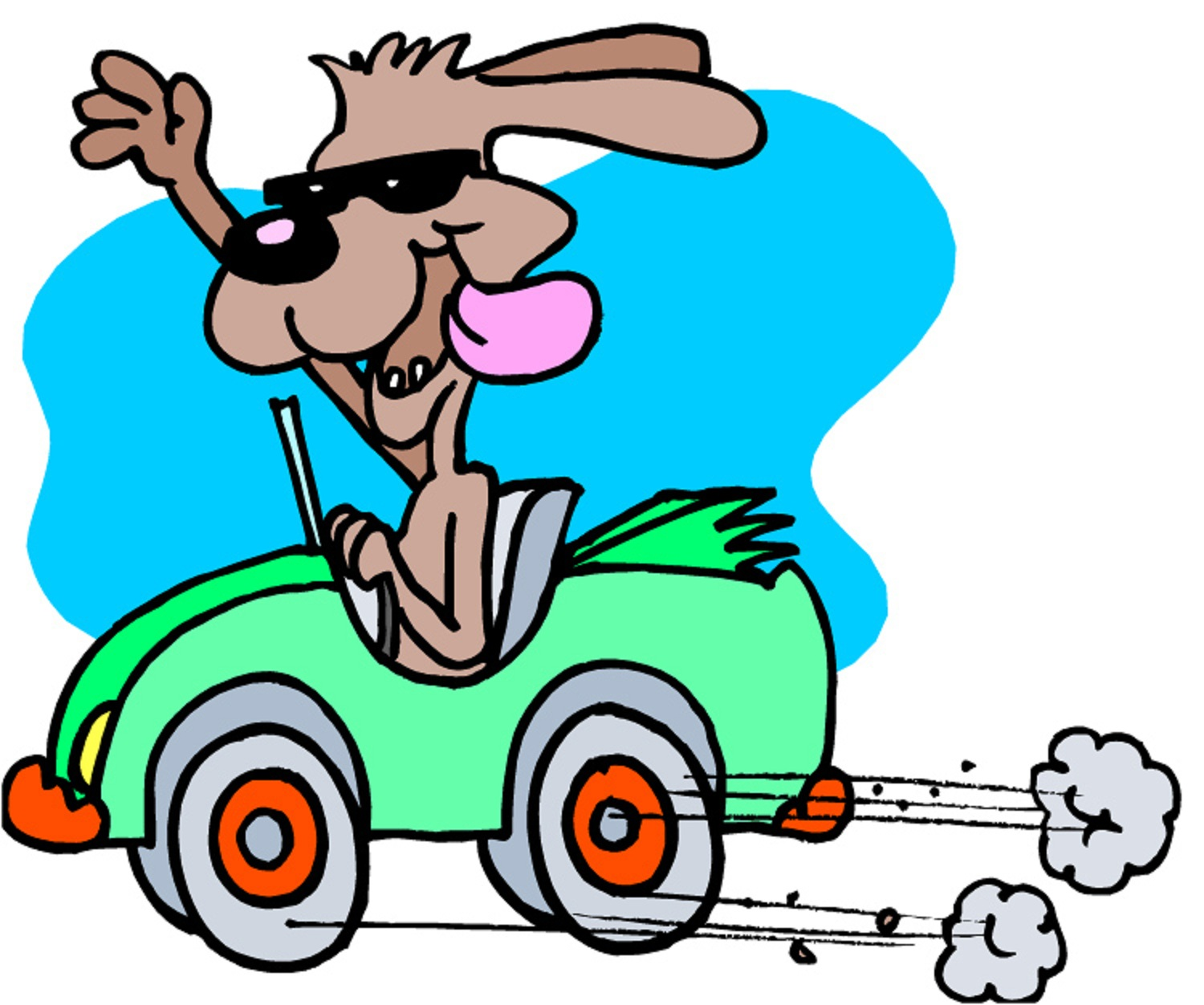 Driving Cars Clipart.