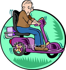 Clipart old man driving.