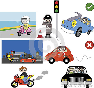 Traffic rules clipart.