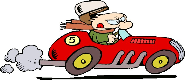 Safety rules on road clipart.
