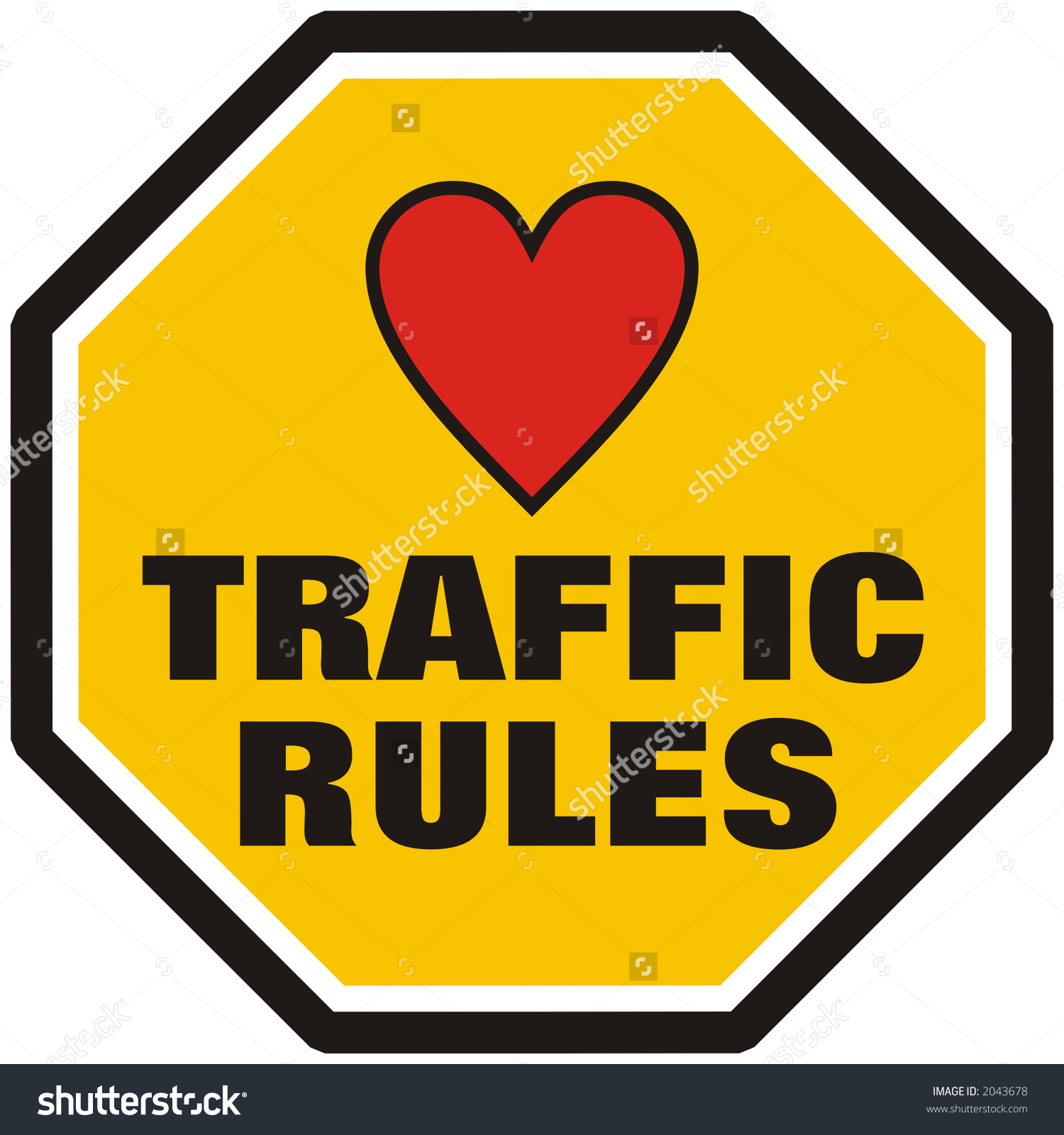 Clipart of traffic rules.
