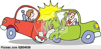 Breaking traffic rules clipart.