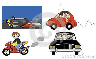 Good And Bad Driving Habit Illustration Royalty Free Stock Image.