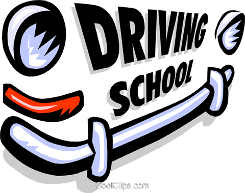 Driving to school clipart.