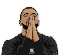 drizzy drake outline clipart #20