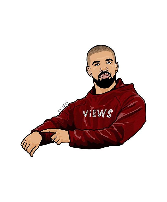 drizzy drake outline clipart #6