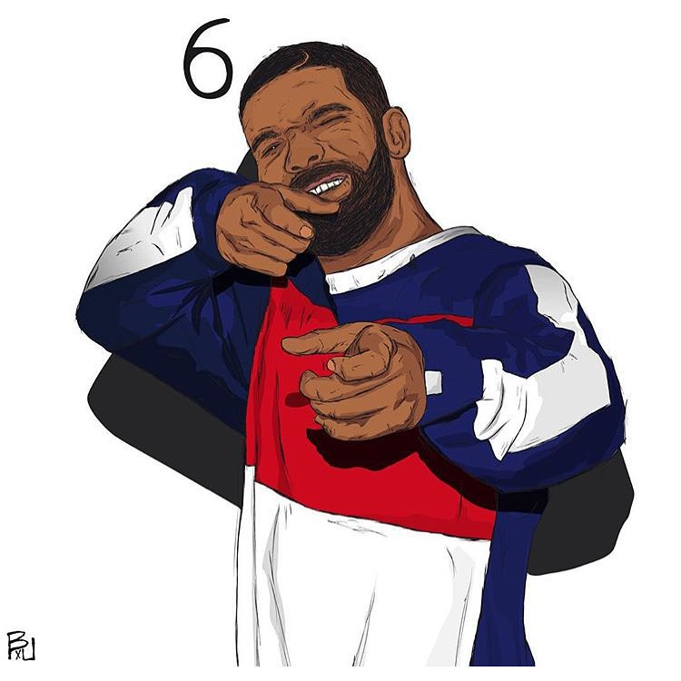 drizzy drake outline clipart #4