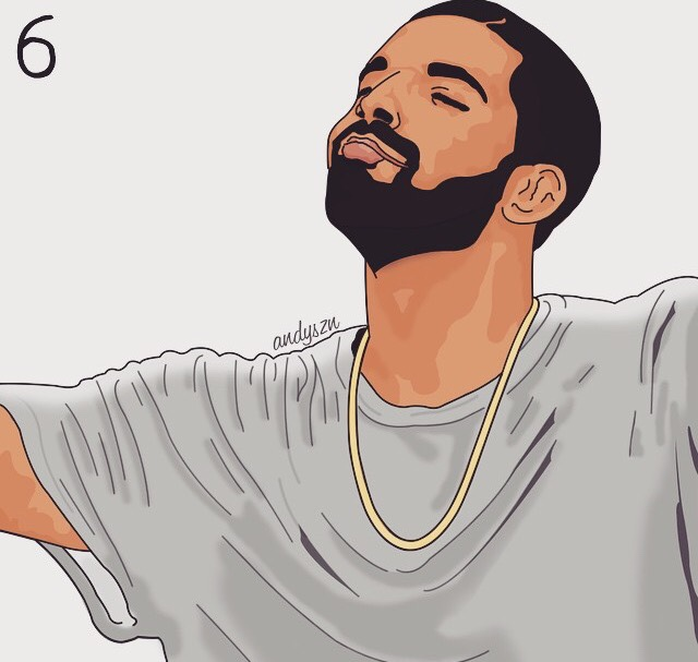 drizzy drake outline clipart #16