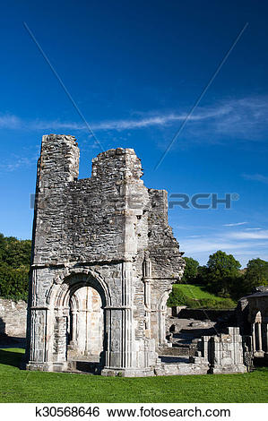 Stock Images of Mellifont Abbey, Drogheda, County Louth, Irland.