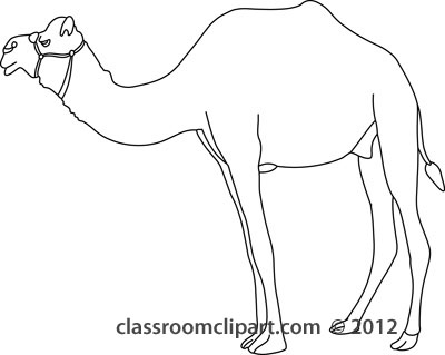 Camel Black And White Clipart.