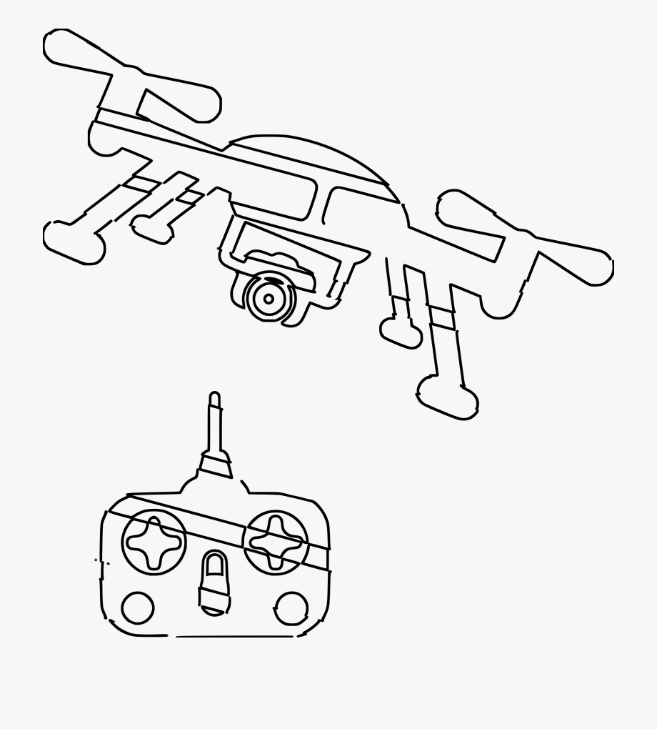 Drone Clipart Black And White , Transparent Cartoon, Free.
