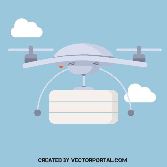 Drone vector clip art.