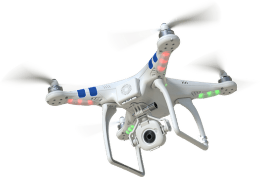 Flying Drone transparent PNG.