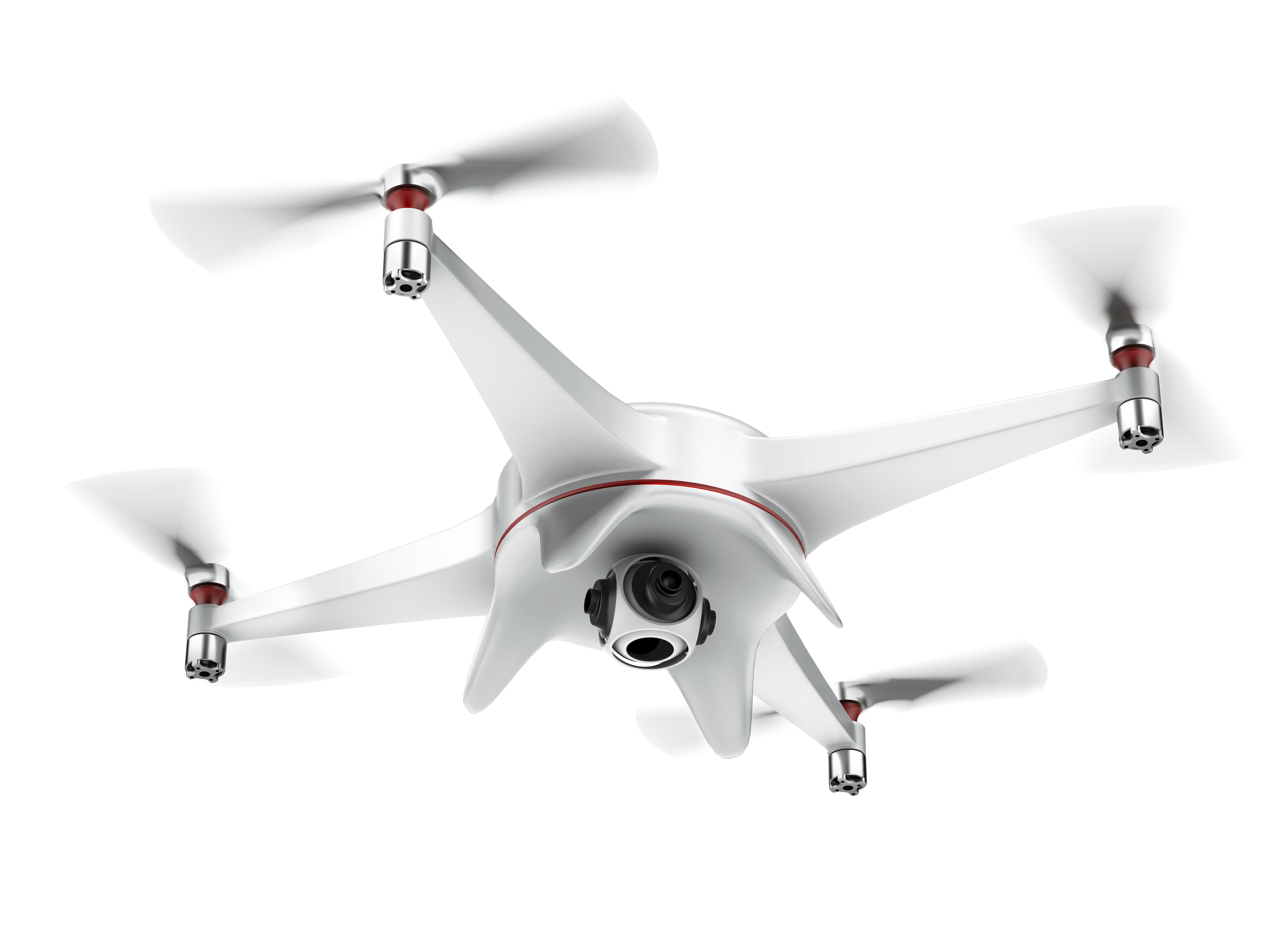 Drone 4 propeller white Png #47014.