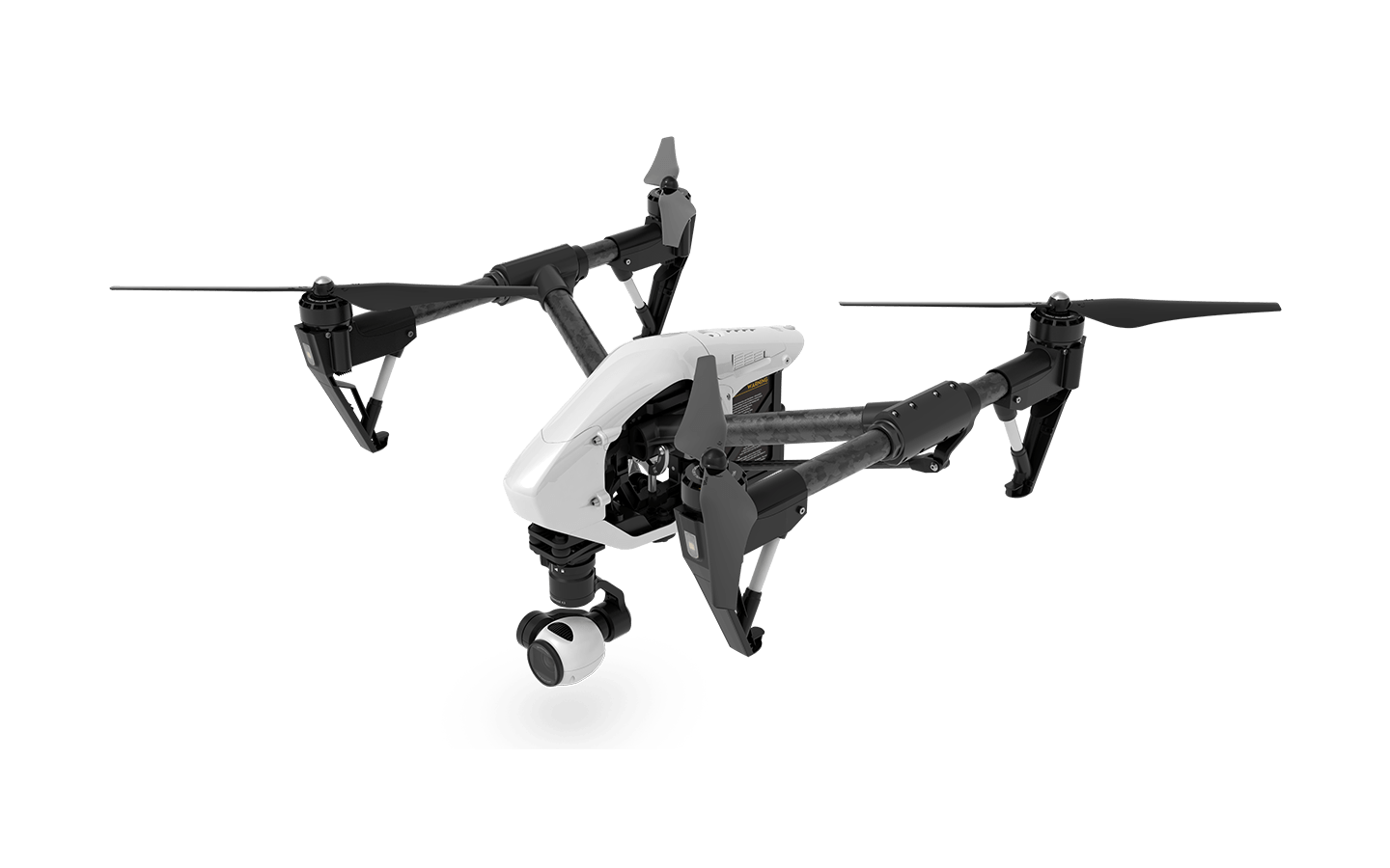 White Flying Drone PNG Image.