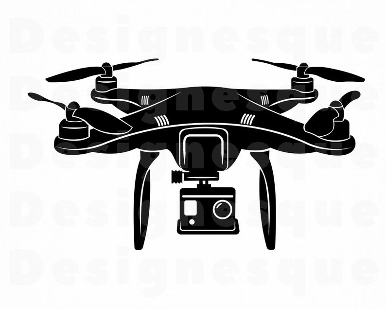 Drone SVG, UAV Svg, Drone Clipart, Drone Files for Cricut, Drone Cut Files  For Silhouette, Drone Dxf, Drone Png, Drone Eps, Drone Vector.