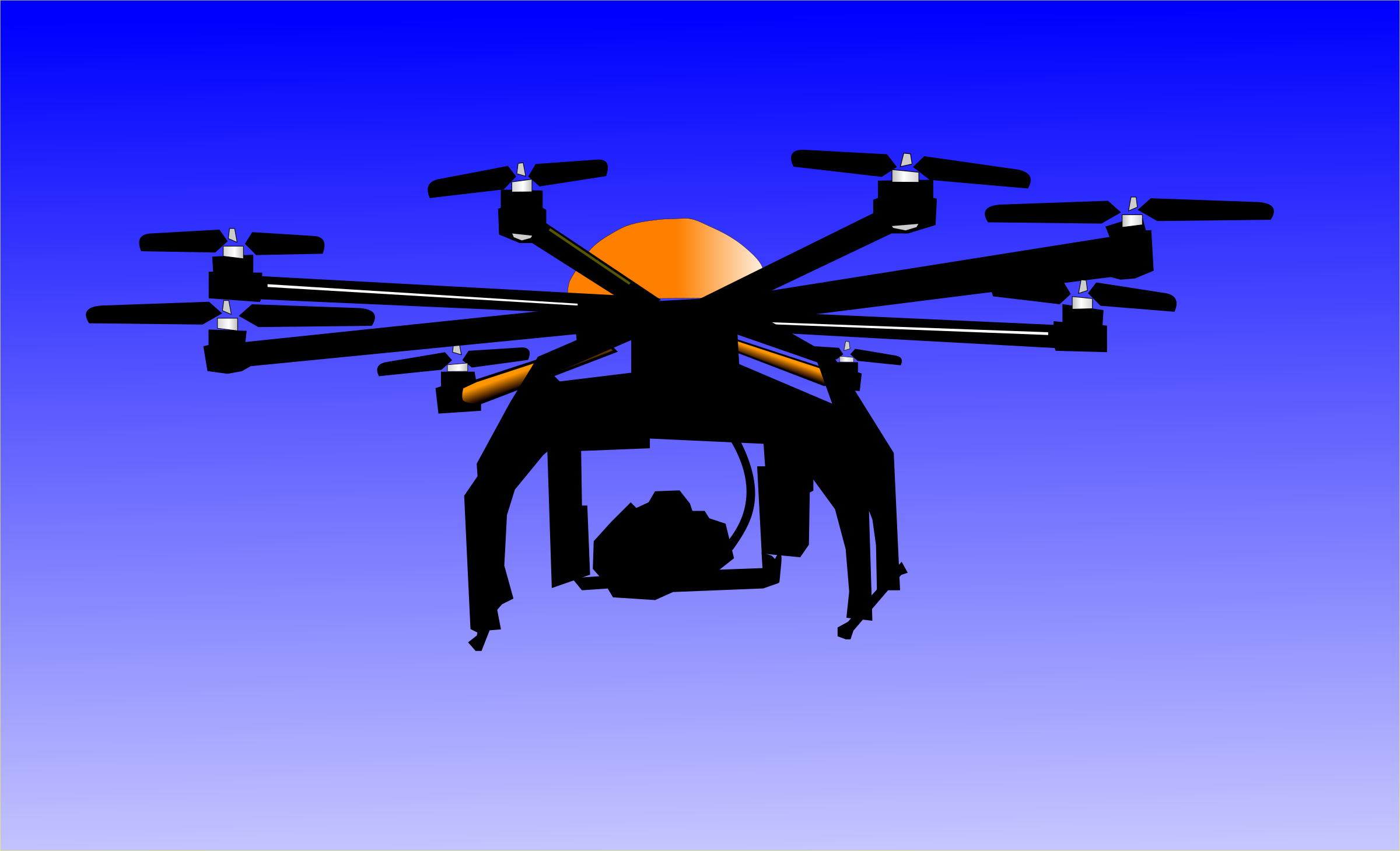 Flying Drone Vector Clipart image.