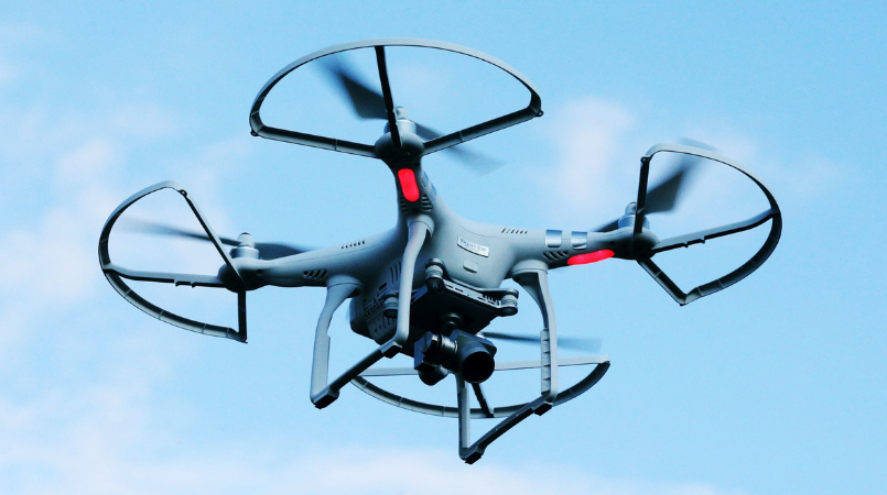Concerns over unsafe drone flights near airport.