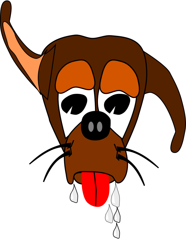 Free Clipart: Salivating Dog.