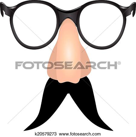 Clipart of Drooping mustache k20579273.