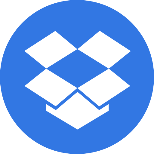 Drive, dropbox, logo, storage icon.