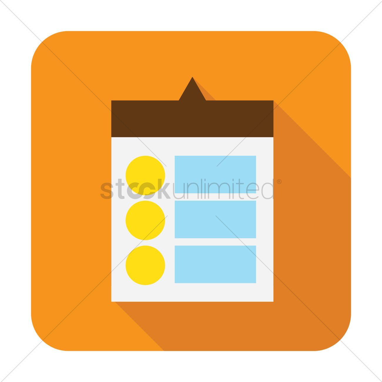 Free Drop box menu Vector Image.