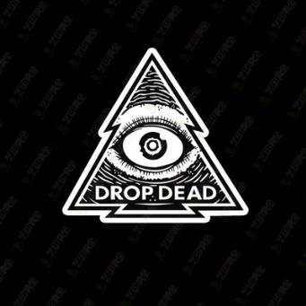Single Drop Dead classic pattern skateboard stickers laptop stickers  affixed to cartons eye 1.