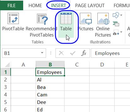 Excel Drop Down Lists.