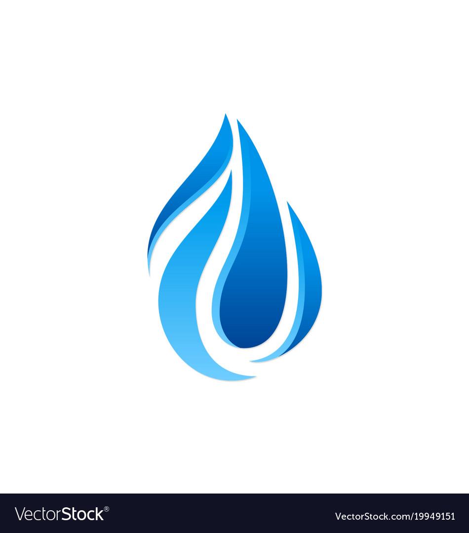 Abstract water drop logo.